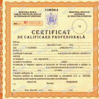 Model certificat de calificare profesionala