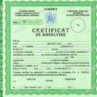 Model certificat de absolvire